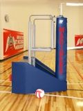Arena JR Freestanding Portable Volleyball System. 16 padding colors