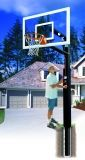 Removable Lottery Pick Smoked Glass Basketball System