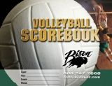 Volleyball Team Scorebook, 30 Game