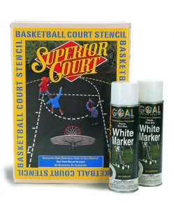 Basketball Court Marking Kit with 2 Cans