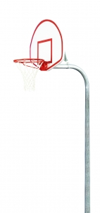 "Playground Basketball Package with Fan-Shaped Aluminum 35.5"" x 54"" Backboard"