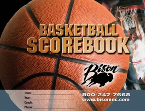 Basketball Team Scorebook, for up to