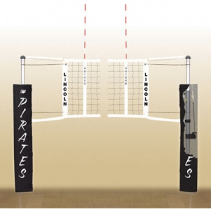 Centerline Aluminum Side-by-Side Double Court Volleyball System Without Sockets