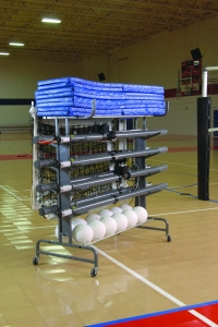 Multi-Court Volleyball Storage System