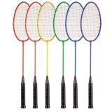 Tempered Coated Steel Badminton Set of 6