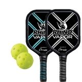 Aluminum Pickleball Paddle Set, 2 Paddles and 2 Balls