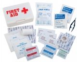 First Aid Kit with Burn Gel for 25 People
