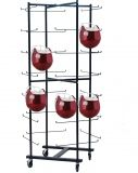 Rolling Football Helmet Rack