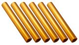 Aluminum Relay Baton Pack of 6, Gold
