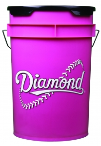 Diamond 6 Gallon Bucket with Padded Lid, Pink