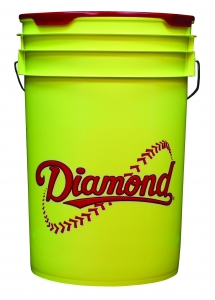 Diamond 6 Gallon Bucket with Padded Lid, Yellow