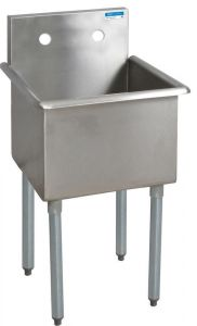 "One Compartement Budget Sink, 21""W x 21-1/2""D, Bowl size 18"" x 14"" x 18"""