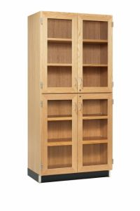 "36""WX22""DX84""H, CABINET, TALL, 4 GLAZED DOORS"