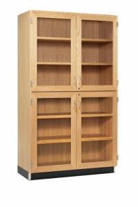 "48""WX22""DX84""H, CABINET, TALL,  4 GLAZED DOORS"