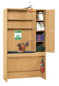 "Safety Station, Almond Plastic Laminate Top, 48""W x 22""D x 84""H"