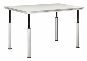 ADJUSTABLE TABLE W/GREY GLACE TOP
