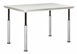 ADJUSTABLE LEG TABLE W/GREY GLACE TOP