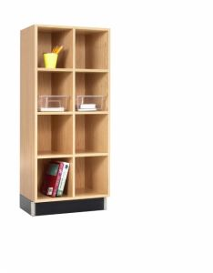 CUBBY CABINET,OAK,8 EQUAL OPENINGS