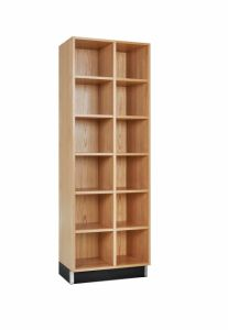CUBBY CABINET,OAK,12 EQUAL OPENINGS