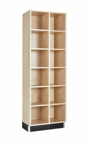 CUBBY CABINET,MAPLE,12 EQUAL OPENINGS