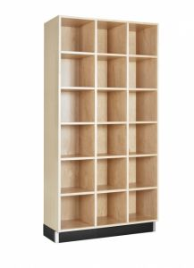 CUBBY CABINET,MAPLE,18 EQUAL OPENINGS