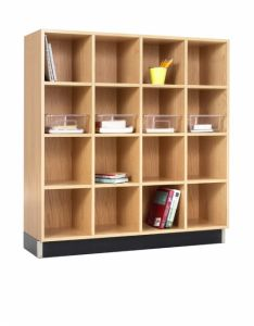 CUBBY CABINET,OAK,16 EQUAL OPENINGS