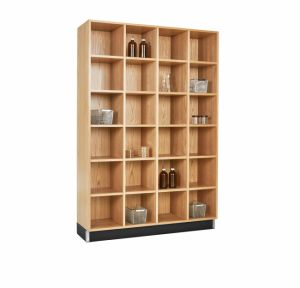 CUBBY CABINET,OAK,24 EQUAL OPENINGS