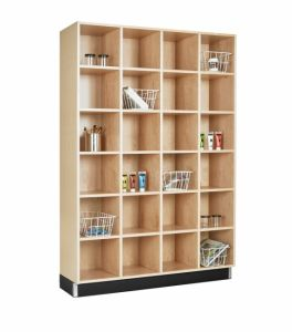 CUBBY CABINET,MAPLE,24 EQUAL OPENINGS
