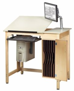 DRAWING TABLE SYSTEM W/BOARD STG.