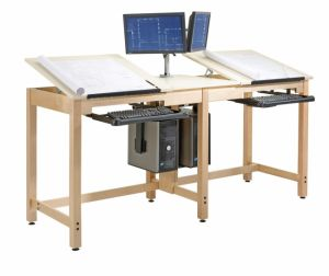 TWO STUDENT DELUXE DRAWING TABLE