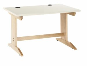 "Work Layout Wood Rectangle Activity Table , Laminate Top, 36""W X 30""D X 27""H, Maple"