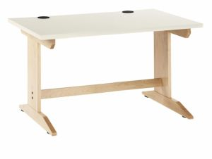 "Work Layout Wood Rectangle Activity Table , Laminate Top, 48""W X 30""D X 27""H, Maple"