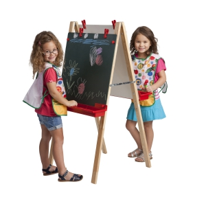 Double-Sided Adjustable Easel w/ Chlkbrd & DE