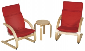 Bentwood Comfort Chair Set with Table - RD