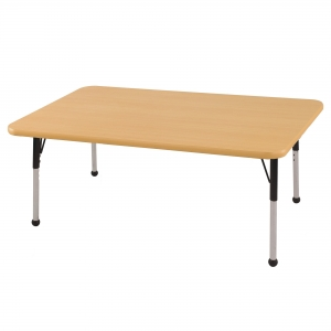 "30""x48"" Rectangular TMold Activity Table, Maple/Maple/Black Standard Ball"