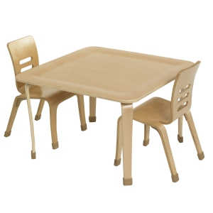 "30"" Square Bentwood Table with 16"" Legs"