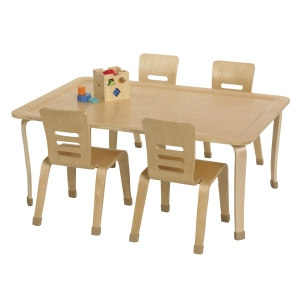 "30x48"" Rect Bentwood Table with 16"" Legs"