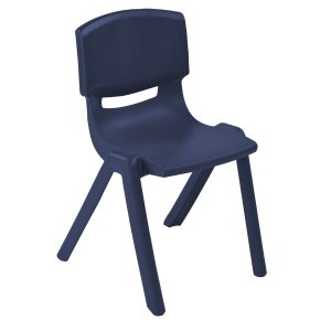 "18"" Resin Stack Chair - Navy"