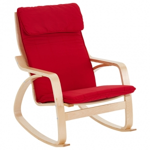 Bentwood Adult Rocking Chair - Red