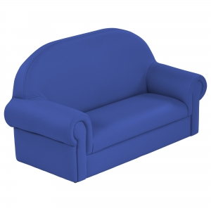 SoftZone Little Lux Toddler Sofa - Blue