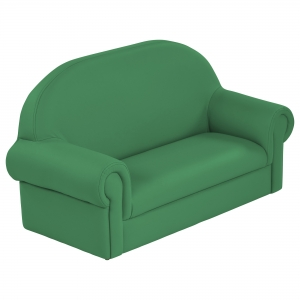 SoftZone Little Lux Toddler Sofa - Green