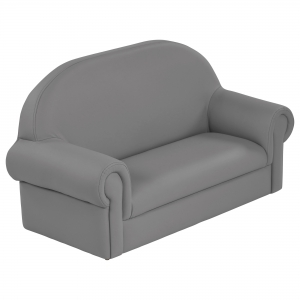 SoftZone Little Lux Toddler Sofa - Grey