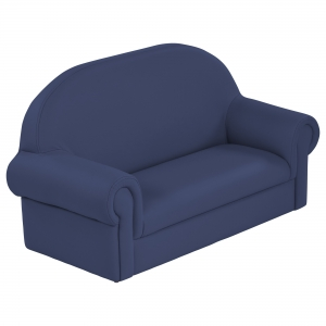 SoftZone Little Lux Toddler Sofa - Navy