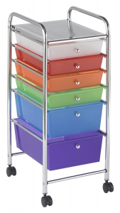 6 Drawer Mobile Organizer - Assorted