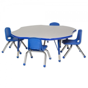 "Clover Table GBL-C & 4-10""BL Chairs"