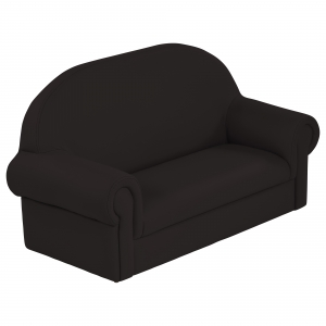 SoftZone Little Lux Toddler Sofa - Black