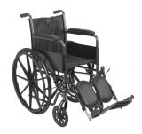 "18"" wheelchair with fixed arm, swing away elevating leg rest"