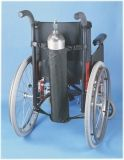 Wheelchair accessory, oxygen tank holder