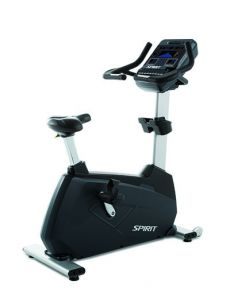 "Spirit CU900 Upright Bike, 77"" x 32"" x 67"""