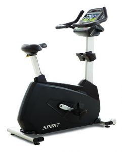 "Spirit CU900ENT Upright Bike, 77"" x 32"" x 67"""